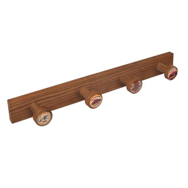percha pomos madera tinte cerezo viejo pomos usa motor perchero diseno retro mueble vintage 9028cv