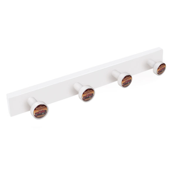 hanger knobs white painted wood knobs garage pickup furniture hook retro vintage design tienda precio venta online 9032bl