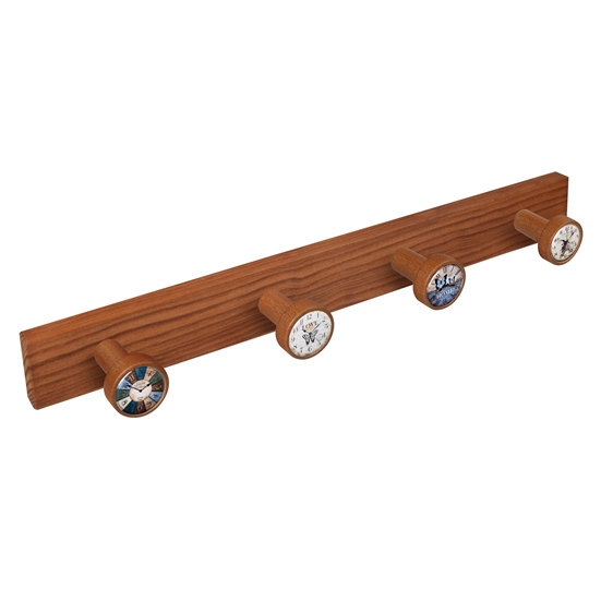 wall hanger knobs old cherry coloured wood watches vintage retro ap1364