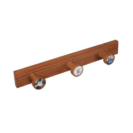 wall hanger knobs old cherry coloured wood watches vintage retro ap1365