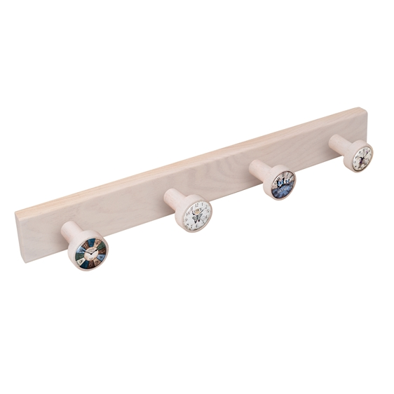 wall hanger knobs white washed wood watches vintage retro ap1366