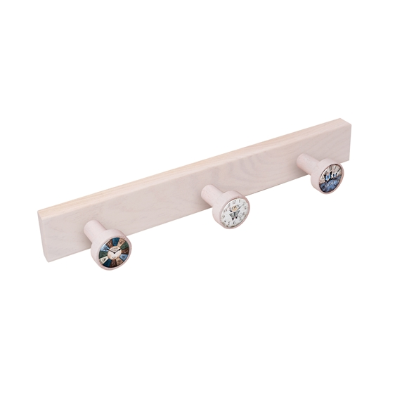 wall hanger knobs white washed wood watches vintage retro ap1367