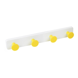 percha pared pomos abs amarillo base abs blanco directo ap1384