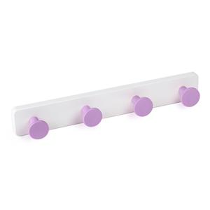 percha pared pomos abs lila base abs blanco directo ap1389