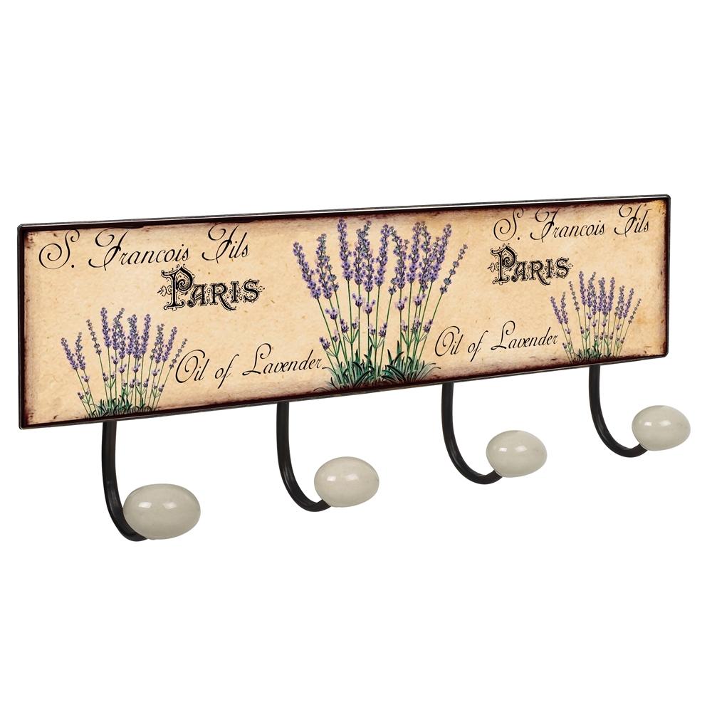 es percha pared pomos porcelana jardin flores lavanda retro vintage retro en wall hanger porcelain flower garden lavender retro vintage