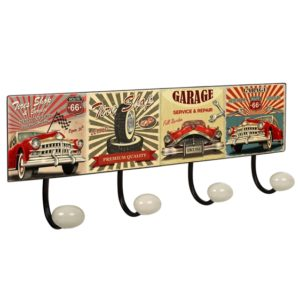 percha pared pomos porcelana garage vintage retro ap1415
