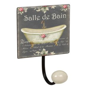 percha pared pomo porcelana salle de bain vintage retro ap1421