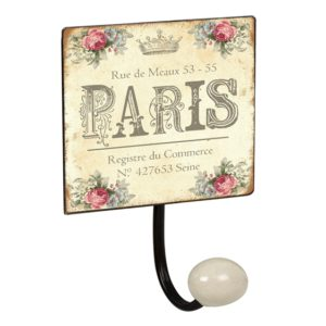 percha pared pomo porcelana paris vintage retro ap1427