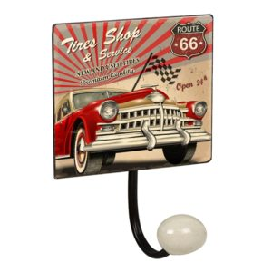 percha pared pomo porcelana garage vintage retro ap1438