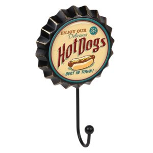 percha pared chapa hot dogs vintage retro ap1471