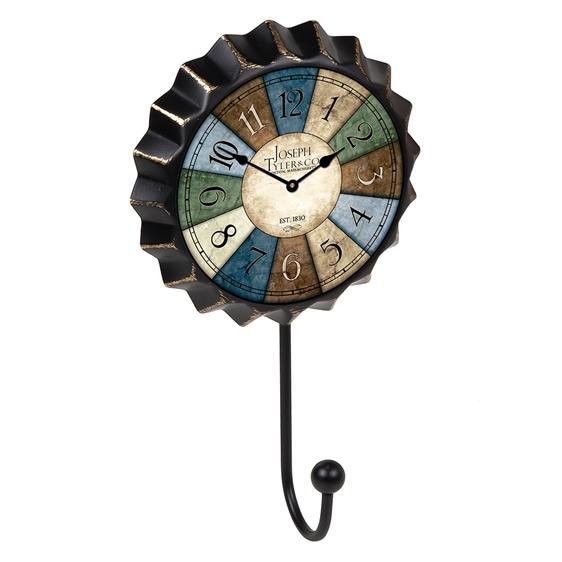 percha pared chapa reloj colores vintage retro ap1478
