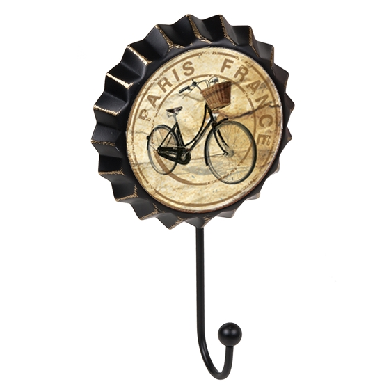 percha pared chapa paris bici vintage retro ap1487