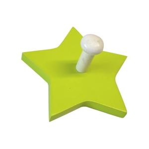 perchas percheros pared estrella verde madera lacada infantiles ninos 909ve