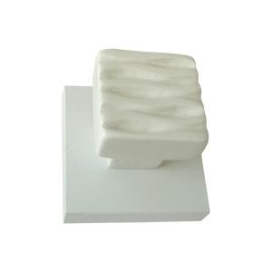 white ceramic hook with white wooden base 919bl