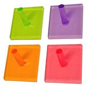 pack 4 perchass gancho adhesivas metacrilato colores 938su