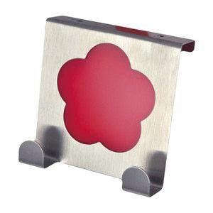 perchas sobre puerta cocina metacrilato rojo gancho alza panos 939rj