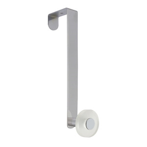 gancho puerta cromado con pomo hielo tanslucido perchero colgador n255