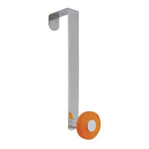 gancho puerta cromado con pomo naranja tanslucido perchero colgador n257