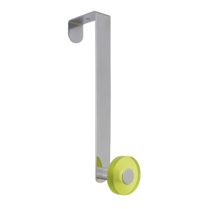gancho puerta cromado con pomo verde tanslucido perchero colgador n259