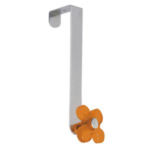 gancho puerta cromado con flor naranja tanslucido perchero colgador n250