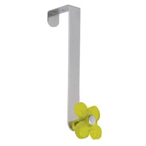 gancho puerta cromado con flor pistacho tanslucido perchero colgador n251