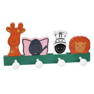 perchas percheros pared animales madera lacada habitacion infantiles 944su