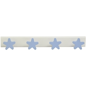 baby hanger 4 blue stars lacquered wood white base 957az