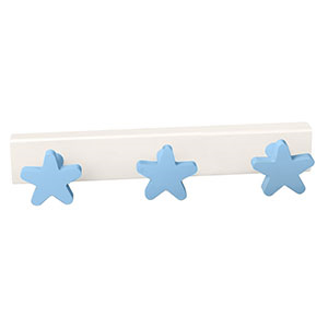 perchaestrellas azules madera lacada perchero colgador n409