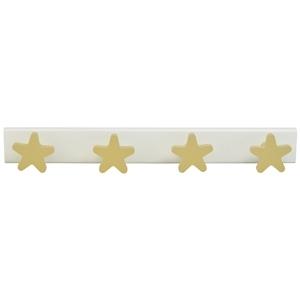 perchas estrellas beige madera lacada habitacion bebes 957be