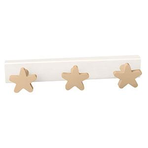 perchaestrellas beige madera lacada perchero colgador n410