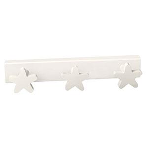 perchaestrellas blanca madera lacada perchero colgador n411