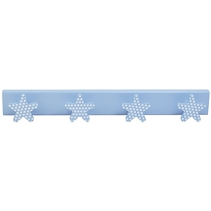 baby hanger 4 sky blue stars with white spots sky blue base 957pa