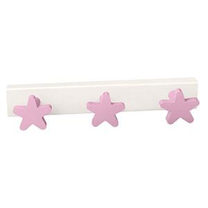 perchaestrellas rosas madera lacada perchero colgador n412