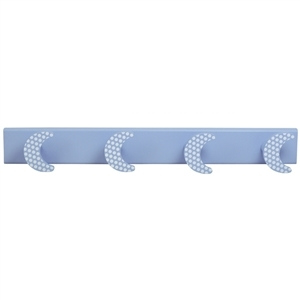 baby hanger 4 sky blue moons with white spots sky blue base 958pa