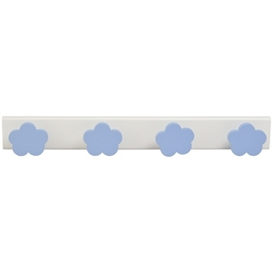 baby hanger 4 sky blue clouds lacquered wood white base 959az