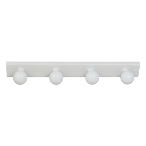 perchas percheros base blanca con bolas blancas habitacion bebes 964bl