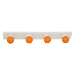 perchas percheros base blanca con bolas naranja habitacion ninos 964na