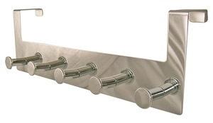 percha sobrepuerta inox con 5 pomos cromados 968cr