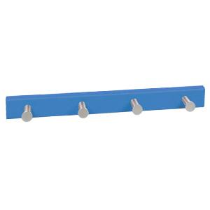 perchapomos aluminio con base laca azul intenso perchero colgador n429