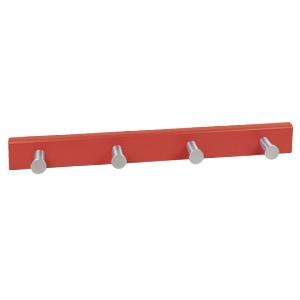 perchapomos aluminio con base laca roja perchero colgador n430