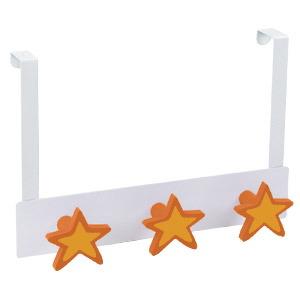 percha sobrepuerta metal blanco con 3 estrellas laca naranja 993na