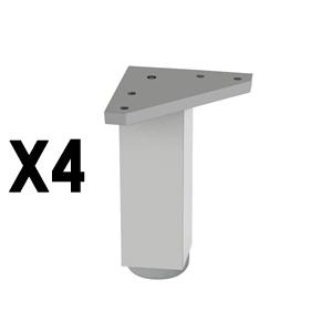pied carrealuminium matpieds accessoires meuble nB309