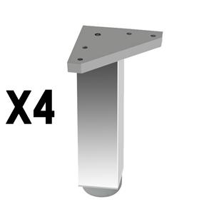 pata cuadradaaluminiobrilloaccesorios patas mueble nB299