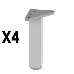 pata cuadradaaluminio mateaccesorios patas mueble nB312