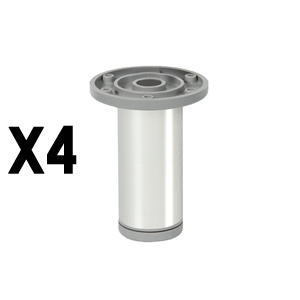 round legaluminum, shiny finishlegs furniture accesories nB376
