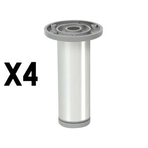 pata redondaaluminio brilloaccesorios patas mueble nB377