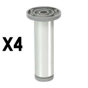 pata redondaaluminio brilloaccesorios patas mueble nB378