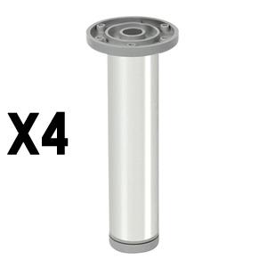 round legaluminum, shiny finishlegs furniture accesories nB381