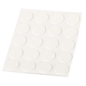 embellecedores cubre tapa tornillos adhesivo blanco nieve 13mm