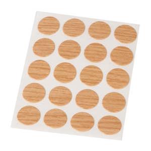 embellecedores cubre tapa tornillos adhesivo roble 13mm